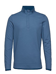 Sweaterfleece Snap Mock - BLUE