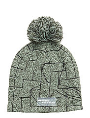 GRAPHIC POM BEANIE - ARTILLERY GREEN