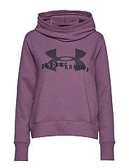 Cotton Fleece Sportstyle Logo hoodie - PURPLE
