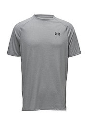 UA Tech 2.0 SS Tee - STEEL LIGHT HEATHER