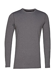 UA ColdGear Fitted Crew - CHARCOAL LIGHT HEATHER