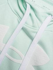 Under Armour - Rival Fleece Logo Hoodie - huvtröjor - seaglass blue - 2