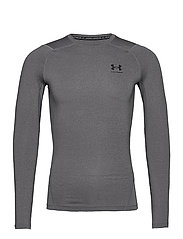 UA HG Armour Comp LS - CARBON HEATHER