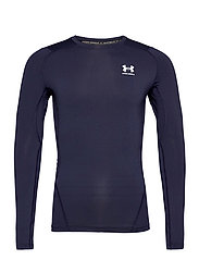 UA HG Armour Comp LS - MIDNIGHT NAVY