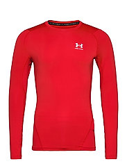 UA HG Armour Comp LS - RED