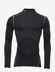 UA CG ARMOUR MOCK - longsleeved tops - black