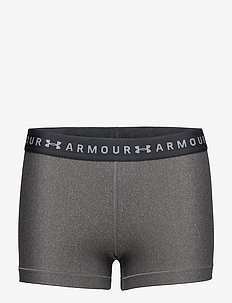 UA HG Armour Shorty - CHARCOAL LIGHT HEATHER