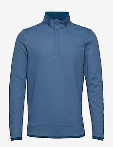 Sweaterfleece Snap Mock - BLUE