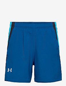 UA LAUNCH SW 5'' SHORT - spodenki treningowe - graphite blue