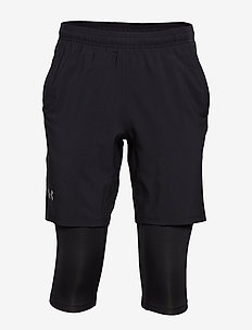UA LAUNCH SW 2-IN-1 LONG SHORT - BLACK