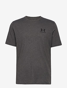 UA SPORTSTYLE LC SS - urheilutopit - charcoal medium heather
