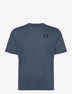 UA SPORTSTYLE LC SS - t-shirts - mechanic blue