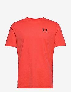 UA SPORTSTYLE LC SS - t-shirts - venom red
