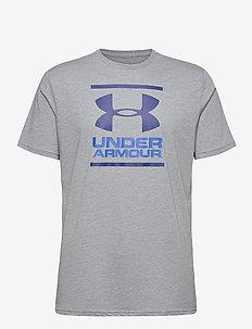 UA GL Foundation SS T - t-shirts - steel light heather