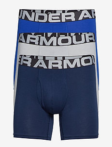 UA Charged Cotton 6in 3 Pack - ROYAL