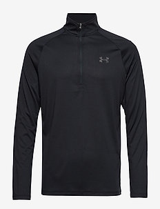 UA TECH 2.0 1/2 ZIP - langermede topper - black