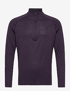 UA TECH 2.0 1/2 ZIP - langarmshirts - blackout purple