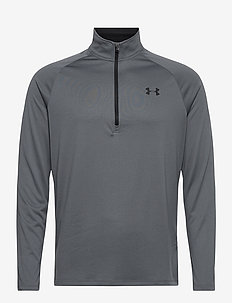 UA TECH 2.0 1/2 ZIP - langarmshirts - pitch gray