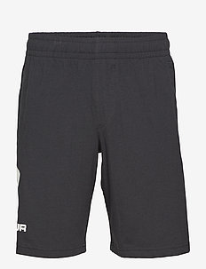 UA COTTON BIG LOGO SHORTS - BLACK