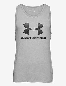 UA SPORTSTYLE LOGO TANK - treenitopit - steel light heather