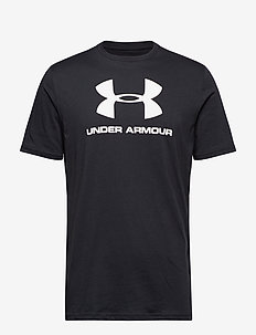 UA SPORTSTYLE LOGO SS - sports tops - black