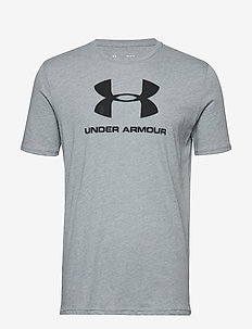 UA SPORTSTYLE LOGO SS - t-shirts - steel light heather