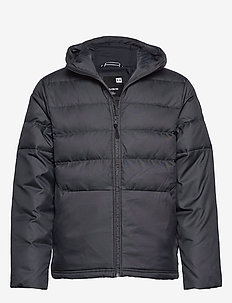 UA SPORTSTYLE DOWN HOODED JACKET - BLACK