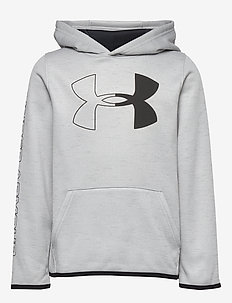Armour Fleece Branded Hoodie - halo gray