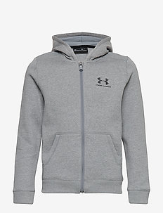 EU Cotton Fleece Full Zip - STEEL