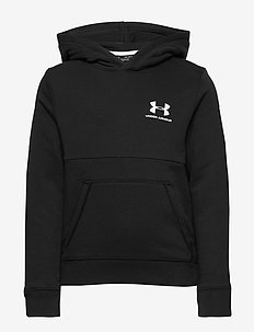 UA Cotton Fleece Hoodie - BLACK