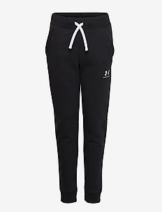 UA Cotton Fleece Joggers - BLACK