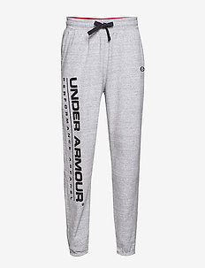 UA PERFORMANCE ORIGINATORS FLEECE LOGO PANT - sweatpants - steel