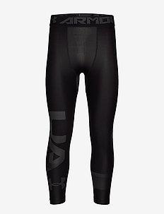 UA HG ARMOUR 2.0 3/4 LEG GRAPHIC - BLACK