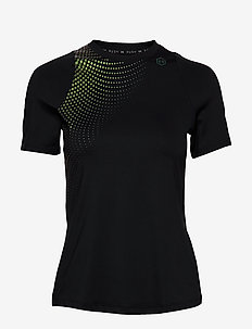 UA RUSH SS HEX OMBRE GPH - BLACK