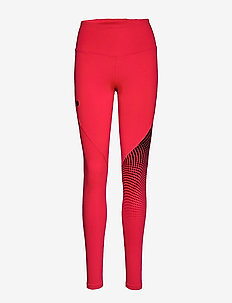 UA RUSH LEGGING OMBRE GRAPHC - løpe- og treningstights - beta red