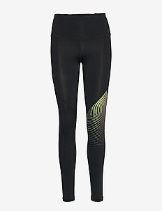 UA RUSH LEGGING OMBRE GRAPHC - BLACK