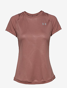 W UA Qualifier ISO-CHILL Embossed Short - t-skjorter - hushed pink