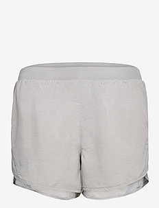 W UA Fly By 2.0 Short - trainings-shorts - gray wolf full heather