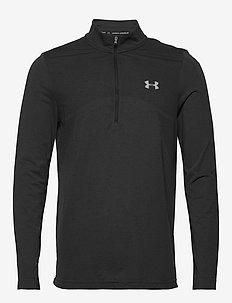 UA Seamless 1/2 Zip - last chance - black