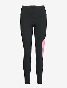UA Rush Embossed Leggings - løpe- og treningstights - black
