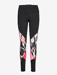 UA Rush Print Color Block Leggings - løpe- og treningstights - black