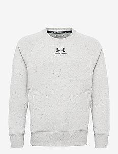 SPECKLED FLEECE CREW - basic sweatshirts - onyx white