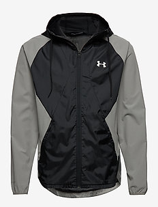 STRETCH-WOVEN HOODED JACKET - sports jackets - gravity green