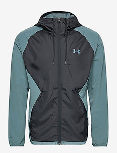 STRETCH-WOVEN HOODED JACKET - training jackets - lichen blue