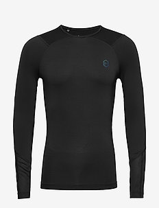 UA HG Rush Compression LS - BLACK