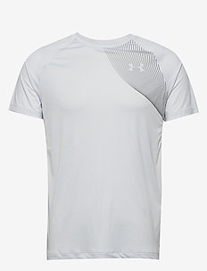 UA M Qualifier ISO-CHILL Short Sleeve - HALO GRAY