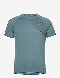 UA M Qualifier ISO-CHILL Short Sleeve - topy sportowe - lichen blue
