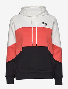 Rival Fleece Color block Hoodie - hoodies - onyx white