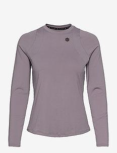 UA Rush LS - hauts à manches longues - slate purple