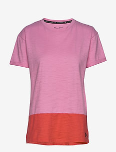 UA Charged Cotton SS - t-skjorter - lipstick